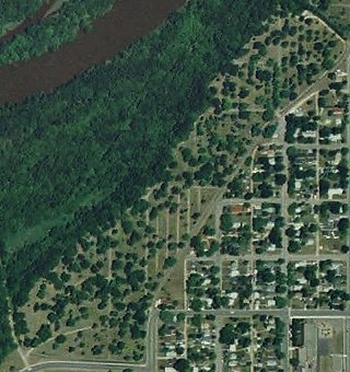 Aerial View of Evergreen Cemetery