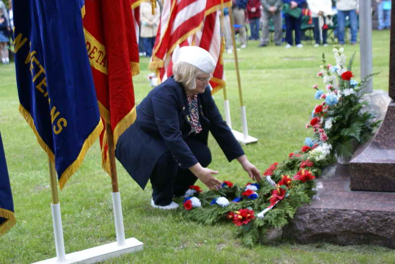 Evergreen Cemetery during Memorial Day Ceremony